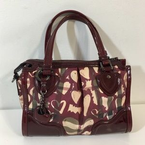 Authentic Burberry Hearts collection satchel